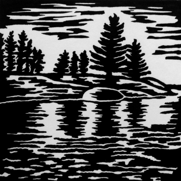 """Clear Lake 2, 4.75"""" x 4.75, Limited Edition"""""""