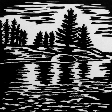 "Clear Lake 2, 4.75"" x 4.75, Limited Edition"""