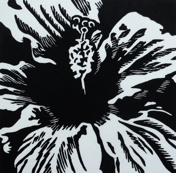 """Hibiscus, 4.75"""" x 4.75"""", Limited Edition"""